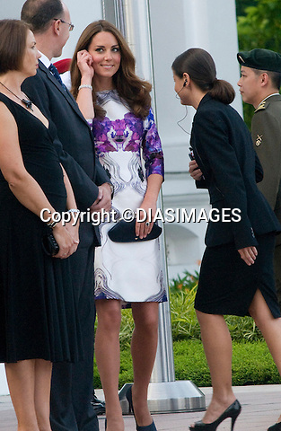"CATHERINE, DUCHESS OF CAMBRIDGE AND PRINCE WILLIAM.call on the President of Singapore, during which time the Prince inspected a Guard of Honour, Istana_11/09/2012.Mandatory credit photo: ©Dias/DIASIMAGES/NEWSPIX INTERNATIONAL..(Failure to credit will incur a surcharge of 100% of reproduction fees)..                **ALL FEES PAYABLE TO: ""NEWSPIX INTERNATIONAL""**..IMMEDIATE CONFIRMATION OF USAGE REQUIRED:.DiasImages, 31a Chinnery Hill, Bishop's Stortford, ENGLAND CM23 3PS.Tel:+441279 324672  ; Fax: +441279656877.Mobile:  07775681153.e-mail: info@newspixinternational.co.uk"