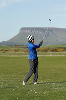 Ryan Gribben (Warrenpoint/UU) during round 1 of The West of Ireland Amateur Open in Co. Sligo Golf Club on Friday 18th April 2014.<br /> Picture:  Thos Caffrey / www.golffile.ie