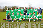 Tralee Athletic Team, Front Left to Right - Chris O'Sullivan, Jason Quirke, Daryl Byrne, Collin Slattery, Phillip Lynch, John McGillacuddy, Matt O'Dowd, Neil O'Donnell, Back Left to Right - Luke Reidy, Joe Kinsella, Liam Kissane, Eoin Sugrue, Brian O'Sullivan, Anton O'Callaghan, Brendan Savage, John Real, Chris White, Rory Byrne at the Cedar Galaxy V Tralee Athletic at Mounthawk Park on Sunday