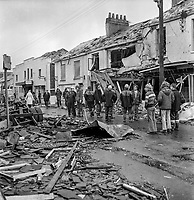 IRA Explosion in Magherafelt. One man died and twenty families were rendered homeless. 16th March 1974. 197403160162A<br />