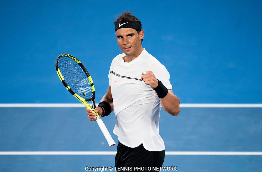RAFAEL NADAL (ESP)<br /> <br /> TENNIS , AUSTRALIAN OPEN,  MELBOURNE PARK, MELBOURNE, VICTORIA, AUSTRALIA, GRAND SLAM, HARD COURT, OUTDOOR, ITF, ATP, WTA<br /> <br /> &copy; TENNIS PHOTO NETWORK