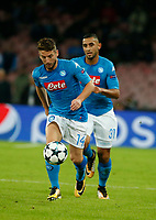 Dries Mertens Faouzi Ghoulam  during the Champions League Group  soccer match between SSC Napoli - Manchester City   at the Stadio San Paolo in Naples 01 nov 2017