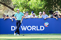 Peter Uihlein (USA) on the 16th during the final round of the DP World Tour Championship, Jumeirah Golf Estates, Dubai, United Arab Emirates. 19/11/2017<br /> Picture: Golffile | Fran Caffrey<br /> <br /> <br /> All photo usage must carry mandatory copyright credit (© Golffile | Fran Caffrey)
