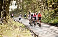 race leaders up the Karnemelkbeekstraat<br /> <br /> 62nd E3 BinckBank Classic (Harelbeke) 2019 <br /> One day race (1.UWT) from Harelbeke to Harelbeke (204km)<br /> <br /> ©kramon