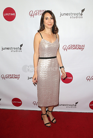 "LOS ANGELES, CA - NOVEMBER 7: Claudia Schwarz, at Premiere of Lifetime's ""Christmas Harmony"" at Harmony Gold Theatre in Los Angeles, California on November 7, 2018. Credit: Faye Sadou/MediaPunch"