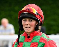 Jockey Sarah Bowen during Evening Racing at Salisbury Racecourse on 3rd September 2019