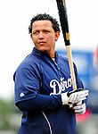 9 March 2010: Detroit Tigers' infielder Miguel Cabrera awaits his turn in the batting cage prior to a Spring Training game against the Washington Nationals at Space Coast Stadium in Viera, Florida. The Tigers defeated the Nationals 9-4 in Grapefruit League action. Mandatory Credit: Ed Wolfstein Photo