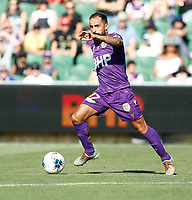 11th January 2020; HBF Park, Perth, Western Australia, Australia; A League Football, Perth Glory versus Adelaide United; Diego Castro of the Perth Glory runs the ball through the middle on the ball - Editorial Use