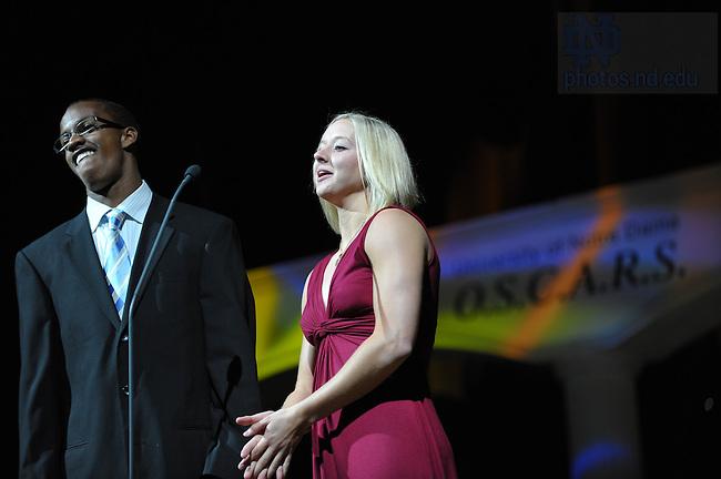 Annual Athletics O.S.C.A.R.S. awards, 2009..Photo by Matt Cashore/University of Notre Dame