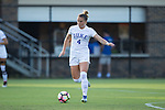 Ashton Miller (4) of the Duke Blue Devils controls the ball during first half action against the High Point Panthers at Koskinen Stadium on September 11, 2016 in Durham, North Carolina.  The Blue Devils defeated the Panthers 4-1.   (Brian Westerholt/Sports On Film)