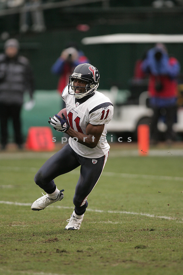 ANDRE DAVIS, of the Houston Texans , in action during the Texans  game against the Oakland Raiders on December 21, 2008 in Oakland, CA...Raiders win 27-16