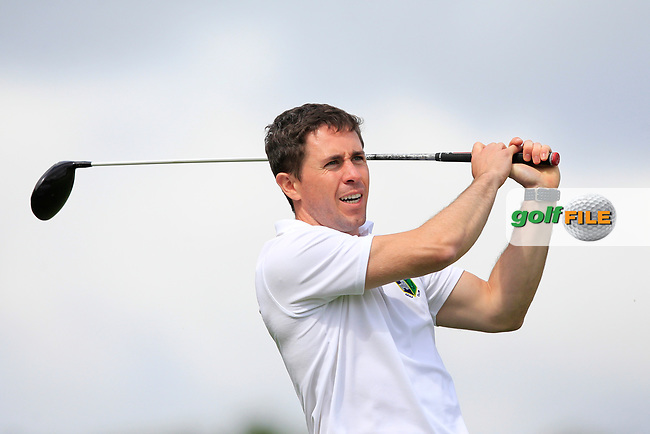 Jack Sharkey (Roscommon) on the 10th tee during the Final of the AIG Jimmy Bruen Shield in the AIG Cups & Shields Connacht Finals 2019 in Westport Golf Club, Westport, Co. Mayo on Sunday 11th August 2019.<br /> <br /> Picture:  Thos Caffrey / www.golffile.ie<br /> <br /> All photos usage must carry mandatory copyright credit (© Golffile   Thos Caffrey)