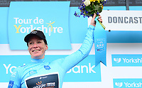 Picture by SWpix.com - 03/05/2018 - Cycling - 2018 Asda Women's Tour de Yorkshire - Stage 1: Beverley to Doncaster - Kirsten Wild of Wiggle High5 celebrates winning