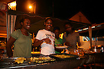 Friday night fish fry at the fishing village of Anse La Raye, St. Lucia