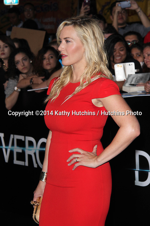 "LOS ANGELES - MAR 18:  Kate Winslet at the ""Divergent"" Los Angeles Premiere at Bruin Theater on March 18, 2014 in Westwood, CA"