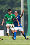 Chun Lok Tan of Wofoo Tai Po (L) fights for the ball with Cheuk Hin Lau of Rangers (R) during the week three Premier League match between BC Rangers and Wofoo Tai Po at Sham Shui Po Sports Ground on September 17, 2017 in Hong Kong, China. Photo by Marcio Rodrigo Machado / Power Sport Images