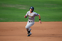 Trenton Thunder center fielder Trey Amburgey (14) runs the bases during the first game of a doubleheader against the Bowie Baysox on June 13, 2018 at Prince George's Stadium in Bowie, Maryland.  Trenton defeated Bowie 4-3.  (Mike Janes/Four Seam Images)