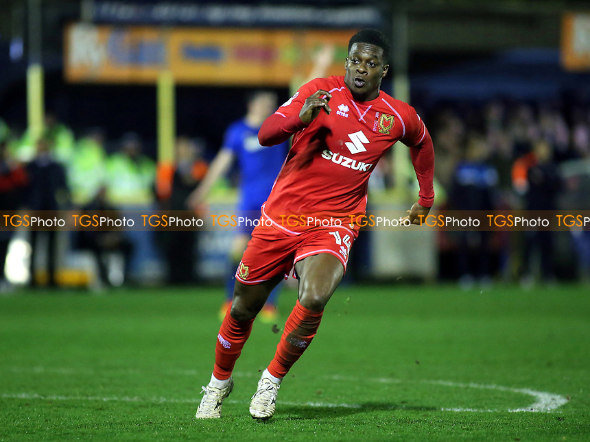 Kieran Agard of MK Dons during AFC Wimbledon vs MK Dons, Sky Bet EFL League 1 Football at the Cherry Red Records Stadium on 14th March 2017