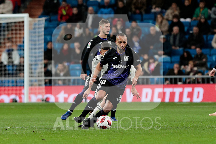 CD Leganes's Nabil El Zhar during Copa Del Rey match between Real Madrid and CD Leganes at Santiago Bernabeu Stadium in Madrid, Spain. January 09, 2019. (ALTERPHOTOS/A. Perez Meca)<br />  (ALTERPHOTOS/A. Perez Meca)