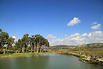 Israel, Carmel Coastal Plain, the water reservoir at Nahal Taninim Nature Reserve