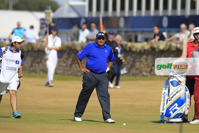 Angel CABRERA (ARG) during round 3 of  The 142th Open Championship Muirfield, Gullane, East Lothian, Scotland 20/7/2013<br /> Picture Eoin Clarke www.golffile.ie: