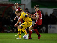 Lincoln City's Conor Coventry vies for possession with Milton Keynes Dons' Dean Lewington<br /> <br /> Photographer Chris Vaughan/CameraSport<br /> <br /> The EFL Sky Bet League One - Lincoln City v Milton Keynes Dons - Tuesday 11th February 2020 - LNER Stadium - Lincoln<br /> <br /> World Copyright © 2020 CameraSport. All rights reserved. 43 Linden Ave. Countesthorpe. Leicester. England. LE8 5PG - Tel: +44 (0) 116 277 4147 - admin@camerasport.com - www.camerasport.com