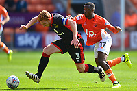 Milton Keynes Dons' Dean Lewington battles with Blackpool's Viv Solomon-Otabor<br /> <br /> Photographer Richard Martin-Roberts/CameraSport<br /> <br /> The EFL Sky Bet League One - Blackpool v Milton Keynes Dons - Saturday August 12th 2017 - Bloomfield Road - Blackpool<br /> <br /> World Copyright &copy; 2017 CameraSport. All rights reserved. 43 Linden Ave. Countesthorpe. Leicester. England. LE8 5PG - Tel: +44 (0) 116 277 4147 - admin@camerasport.com - www.camerasport.com