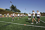 26 September 2010: FC Gold Pride players warm up before the game. FC Gold Pride defeated the Philadelphia Independence 4-0 at Pioneer Stadium in Heyward, California in the Women's Professional Soccer championship game.