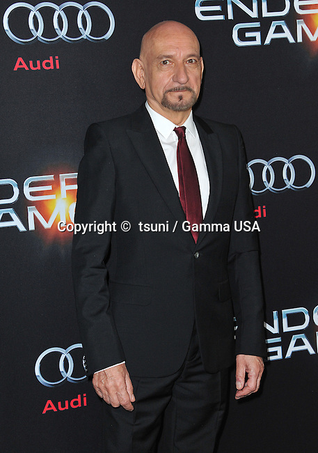 Ben Kingsley  at the Ender s Game Premiere at the Chinese Theatre in Los Angeles.