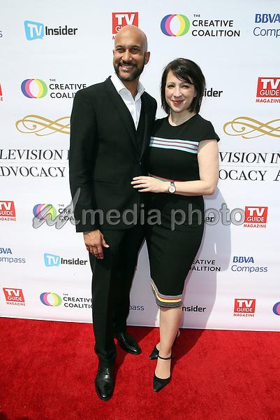 16 September 2017 - Hollywood, California - Keegan-Michael Key, Elisa Pugliese. Television Industry Advocacy Awards held at TAO Hollywood. Photo Credit: F. Sadou/AdMedia