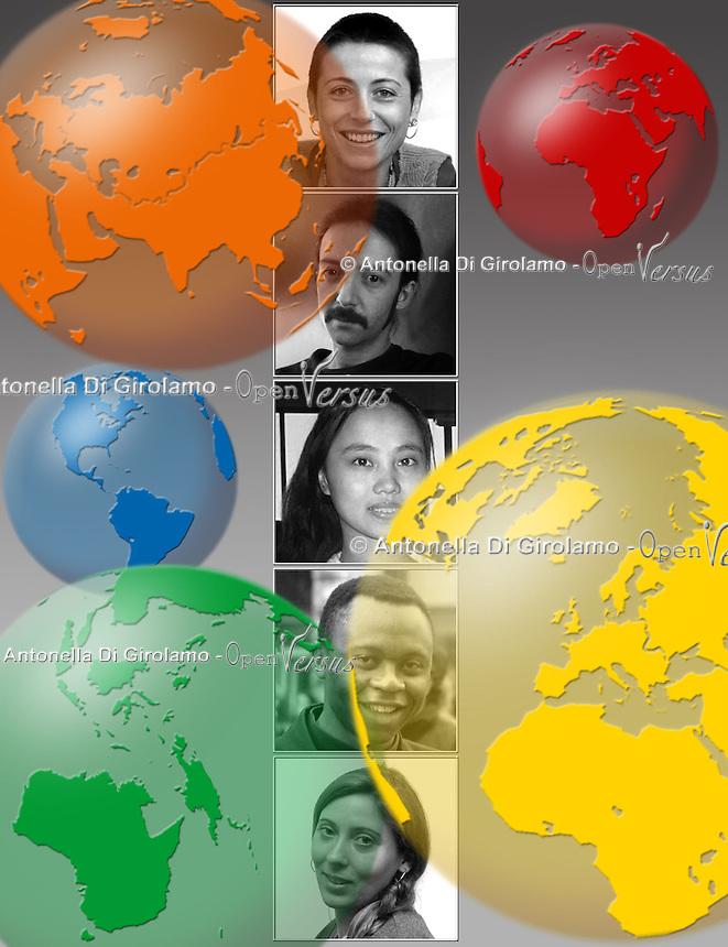 Società multirazziale. Society multiracial..