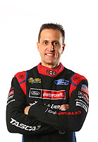 Feb 8, 2018; Pomona, CA, USA; NHRA funny car driver Bob Tasca III poses for a portrait during media day at Auto Club Raceway at Pomona. Mandatory Credit: Mark J. Rebilas-USA TODAY Sports