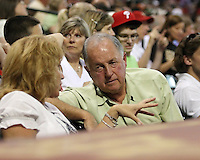 Phillies GM Pat Gillick on Saturday May 24th at Minute Maid Park in Houston, Texas. Photo by Andrew Woolley / Four Seam Images.