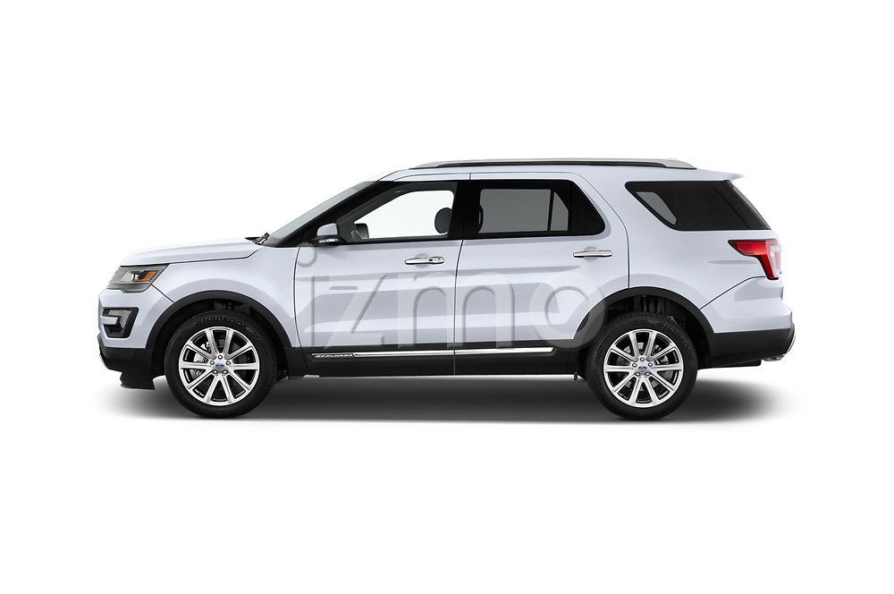 Car Driver side profile view of a 2017 Ford Explorer Limited 5 Door SUV Side View