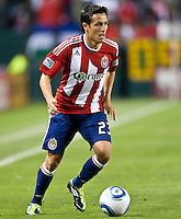 CARSON, CA – June 3, 2011: Chivas USA forward Marcos Mondaini (23) during the match between Chivas USA and Portland Timbers at the Home Depot Center in Carson, California. Final score Chivas USA 1, Portland Timbers 0.