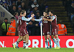 Frederic Guilbert of Aston Villa celebrates scoring the first goal during the Carabao Cup match at the King Power Stadium, Leicester. Picture date: 8th January 2020. Picture credit should read: Darren Staples/Sportimage