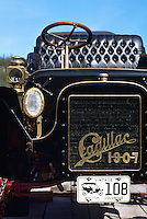 Detail of a 1907 Cadillac Vintage Car