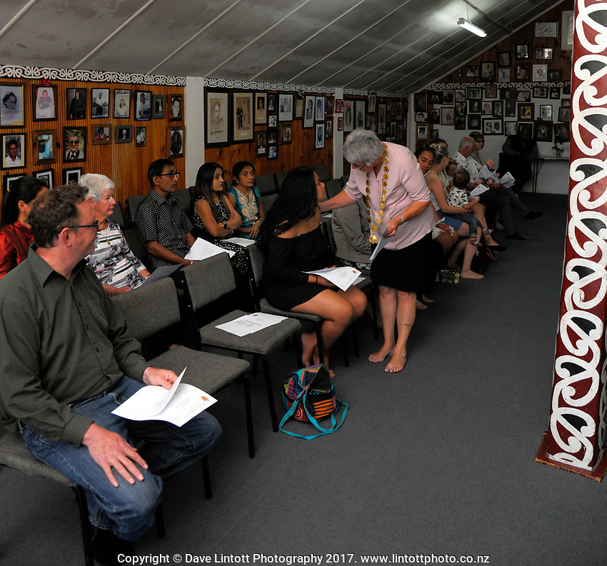 NZ Citizenship ceremony at Te Ore Ore Marae in Masterton, New Zealand on Thursday, 9 November 2017. Photo: Dave Lintott / lintottphoto.co.nz
