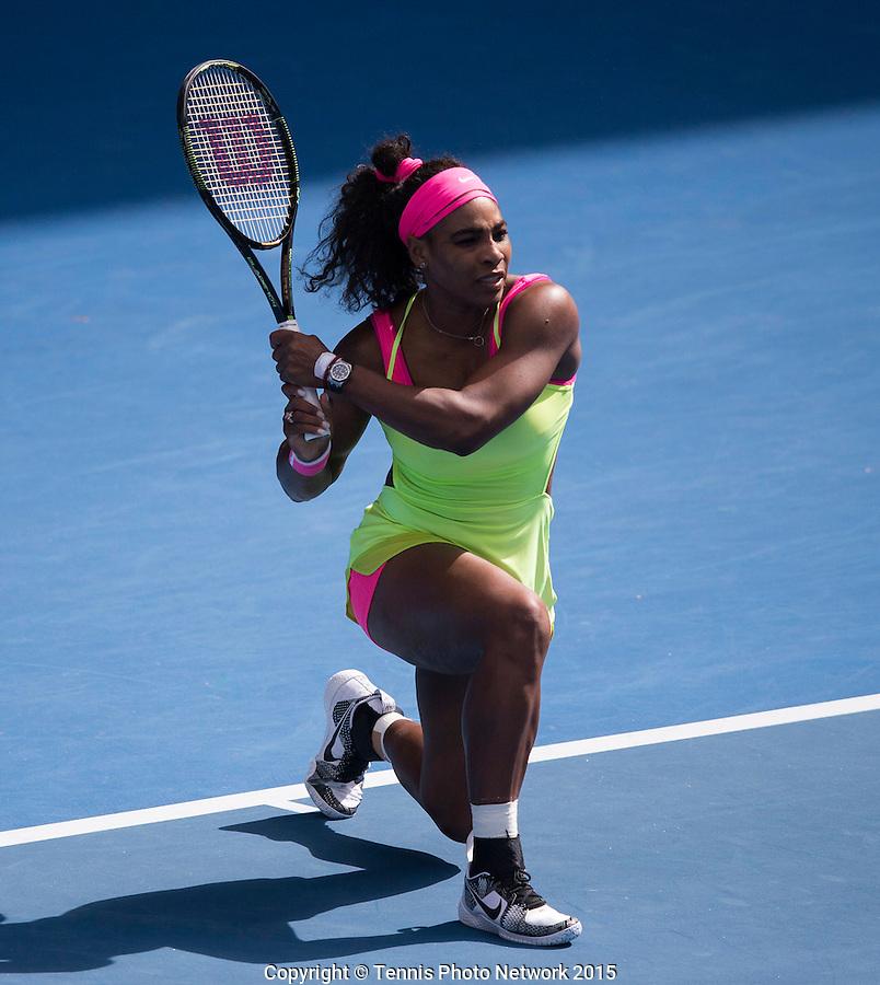 SERENA WILLIAMS (USA)<br /> <br /> Tennis - Australian Open 2015 - Grand Slam -  Melbourne Park - Melbourne - Victoria - Australia  - 29 January 2015. <br /> &copy; AMN IMAGES