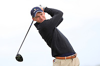 Matt Saulez (RSA) on the 9th tee during Round 2 of The East of Ireland Amateur Open Championship in Co. Louth Golf Club, Baltray on Sunday 2nd June 2019.<br /> <br /> Picture:  Thos Caffrey / www.golffile.ie<br /> <br /> All photos usage must carry mandatory copyright credit (© Golffile   Thos Caffrey)