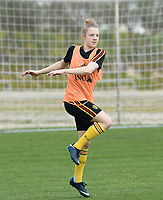 20180306 - LARNACA , CYPRUS :  Belgian Elena Dhont pictured during a Matchday -1 training from The Belgian Red Flames prior to their game against South Africa , on tuesday 6 March 2018 at the Alpha Sports Grounds in Larnaca , Cyprus . This will be the final game for Belgium during the Cyprus Womens Cup for a battle for the 5th place , a prestigious women soccer tournament as a preparation on the World Cup 2019 qualification duels. PHOTO SPORTPIX.BE | DAVID CATRY