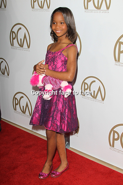 BEVERLY HILLS, CA - JANUARY 26: Quvenzhane Wallis at the 24th Annual Producers Guild of America Awards at The Beverly Hilton Hotel in Beverly Hills, California...Credit: MediaPunch/face to face..- Germany, Austria, Switzerland, Eastern Europe, Australia, UK, USA, Taiwan, Singapore, China, Malaysia and Thailand rights only -