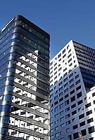 Nederland Utrecht 2018. Links het nieuwe World Trade Center (WTC) achter Centraal Station. Rechts het nieuwe Stadskantoor.  Foto Berlinda van Dam / Hollandse Hoogte
