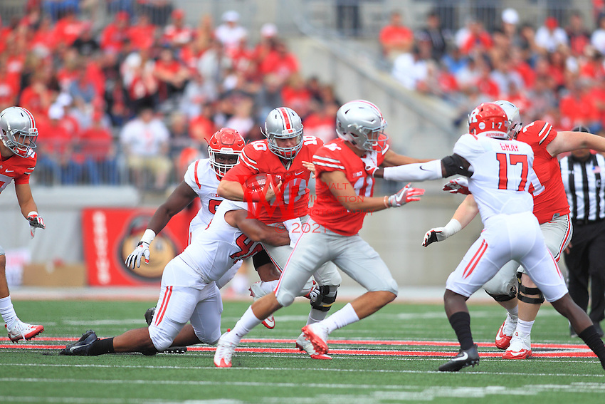 The Ohio State University football team shutout  Rutgers 58-0 in their Big Ten Conference opener. October 1, 2016<br />(Photo by Walt Middleton Photography 2016)