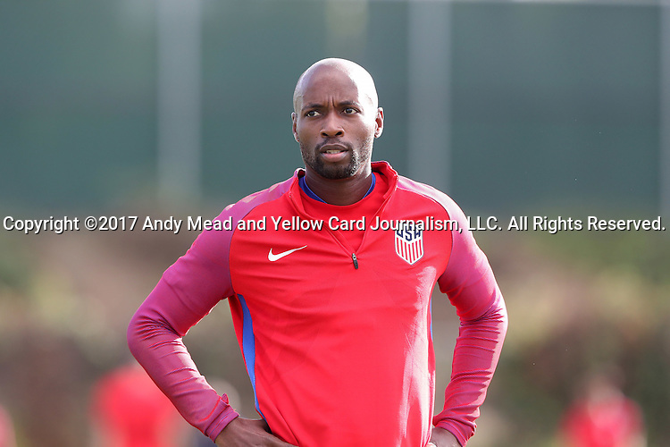 11 January 2017: DaMarcus Beasley. The United States Men's National Team held their first training session under new head coach Bruce Arena on The Murphy Family Field at the StubHub Center in Carson, California.