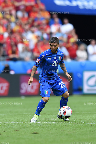 Lorenzo Insigne (Italy) ; <br /> June 27, 2016 - Football : Uefa Euro France 2016, Round of 16; Italy 2-0 Spain at Stade de France; Saint-Denis, France. (Photo by aicfoto/AFLO)
