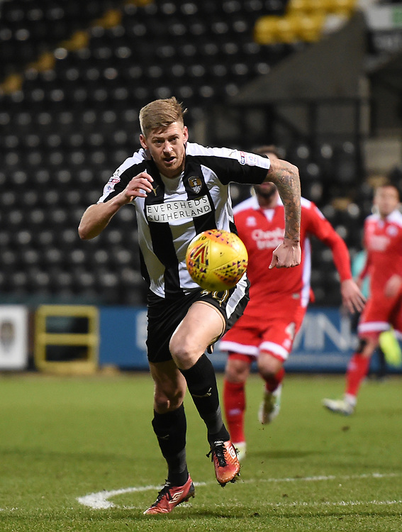 Notts County's Jonathan Stead<br /> <br /> Photographer Jon Hobley/CameraSport<br /> <br /> The EFL Sky Bet League Two - Notts County v Crawley Town - Tuesday 23rd January 2018 - Meadow Lane - Nottingham<br /> <br /> World Copyright &copy; 2018 CameraSport. All rights reserved. 43 Linden Ave. Countesthorpe. Leicester. England. LE8 5PG - Tel: +44 (0) 116 277 4147 - admin@camerasport.com - www.camerasport.com