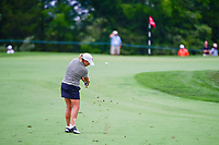 Cristie Kerr (USA) hits her approach shot on 1 during Saturday's third round of the 72nd U.S. Women's Open Championship, at Trump National Golf Club, Bedminster, New Jersey. 7/15/2017.<br /> Picture: Golffile | Ken Murray<br /> <br /> <br /> All photo usage must carry mandatory copyright credit (&copy; Golffile | Ken Murray)