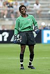 1 August 2004: Briana Scurry before the game. The United States defeated China 3-1 at Rentschler Field in East Hartford, CT in an women's international friendly soccer game..