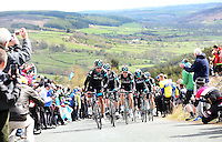 Picture by Alex Whitehead/SWpix.com - 01/05/2015 - Cycling - 2015 Tour de Yorkshire: Stage 1, Bridlington to Scarborough - Team Sky leads the Peleton during Stage 1.